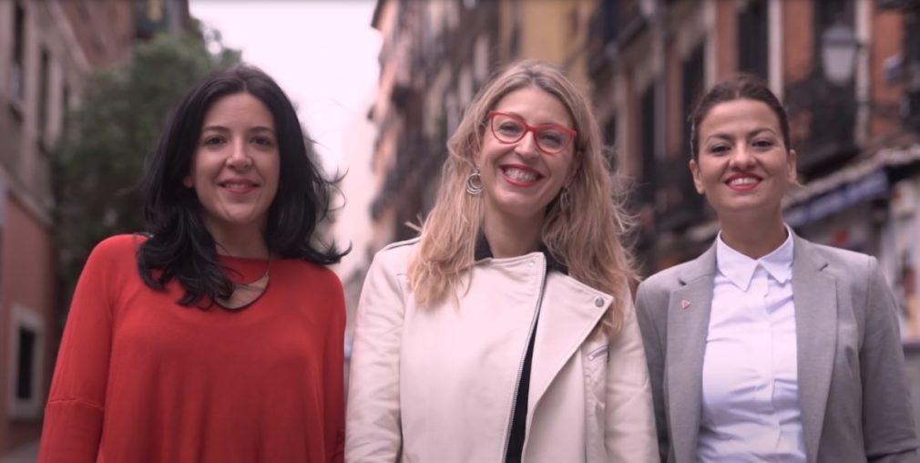 (Idoia_Villanueva;_M.ª_Eugenia_R._Palop_&_Sira_Rego)_Spot_2019._Unidas_Podemos_Cambiar_Europa