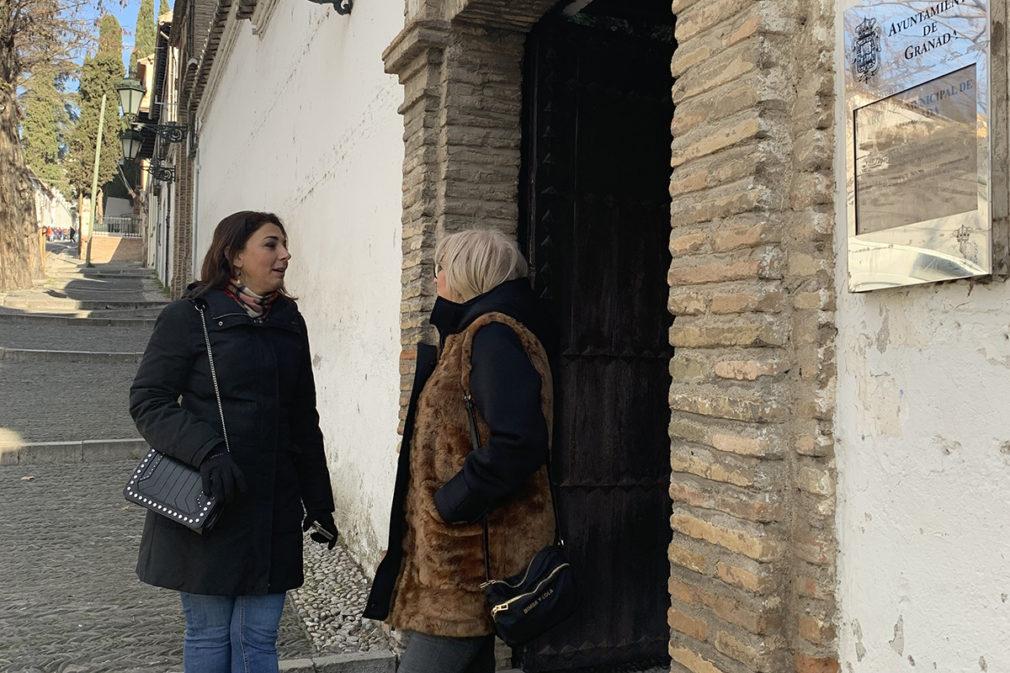 LA CONCEJALAS RUZ Y LEYVA HOY EN EL PALACIO DE LOS CÓRDOBA