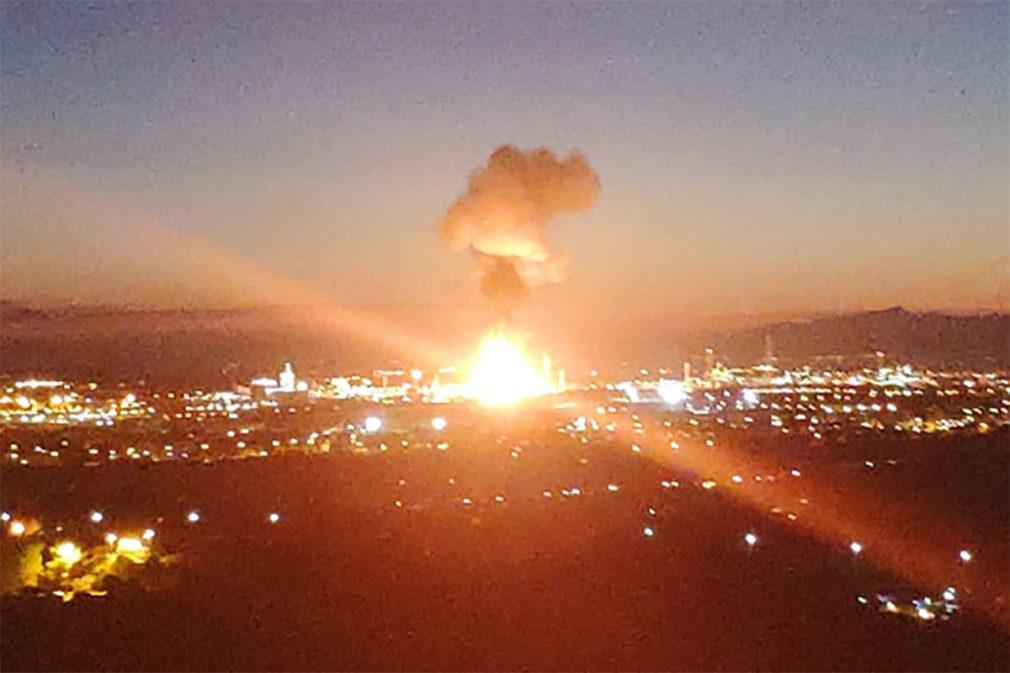 explosion petroquimica en Tarragona