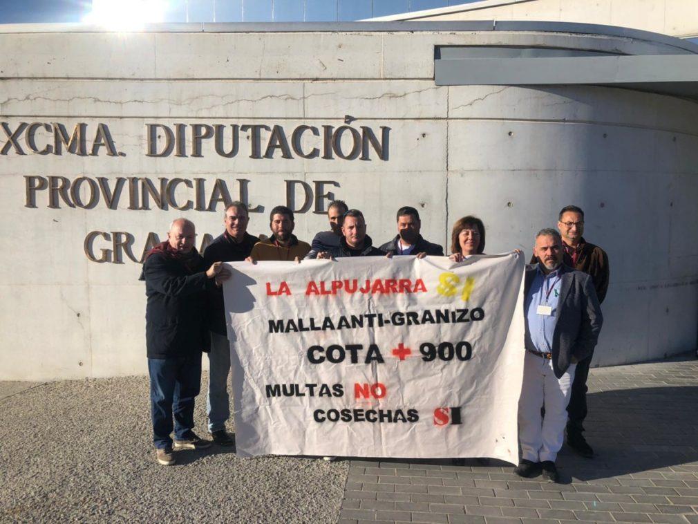 VOX Diputación Granada mallas agricultores Alpujarra 1