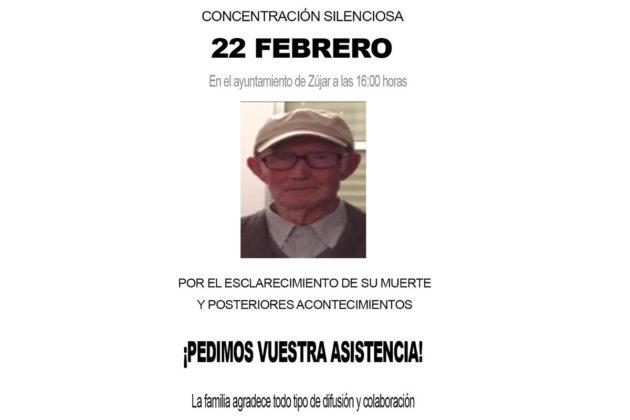 Cartel de la concentración silenciosa por el esclarecimiento de la muerte de Celso Ruiz
