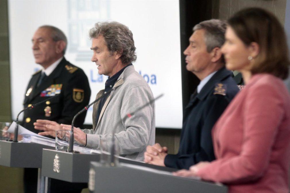 El DAO de la Policía - Fernando Simón- general del Ejército del Aire Miguel Ángel Villarroya Foto Moncloa