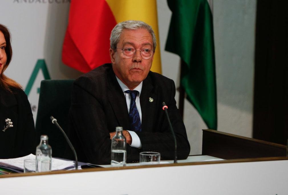 Rueda de prensa posterior a la reunión semanal del Consejo de Gobierno de la Junta de Andalucía