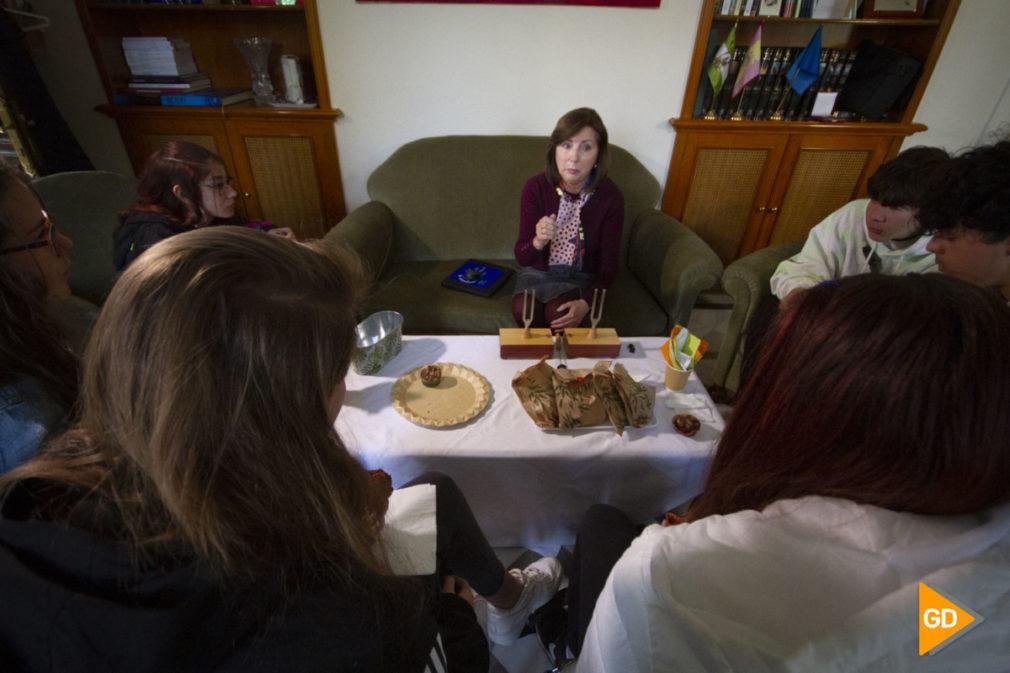 Cafe con ciencia de mujeres científicas en Granada en la estación experimental del Zaidin