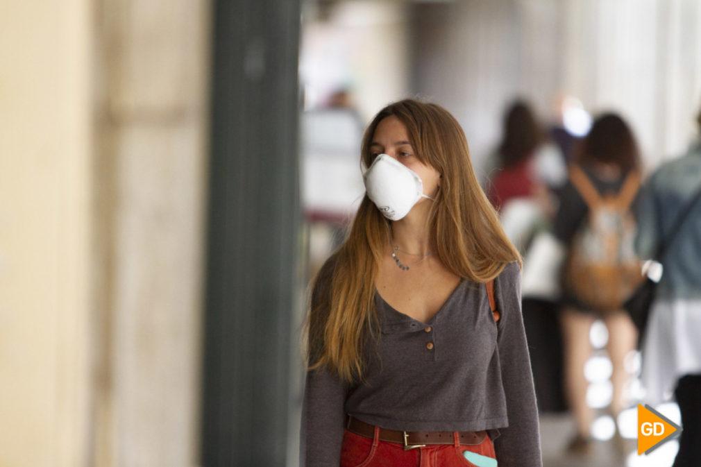 Mascarillas por coronavirus en Granada