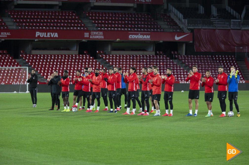 Ultimo entrenamiento del Granada CF previo al partido de vuelta de las semifinales de la Copa