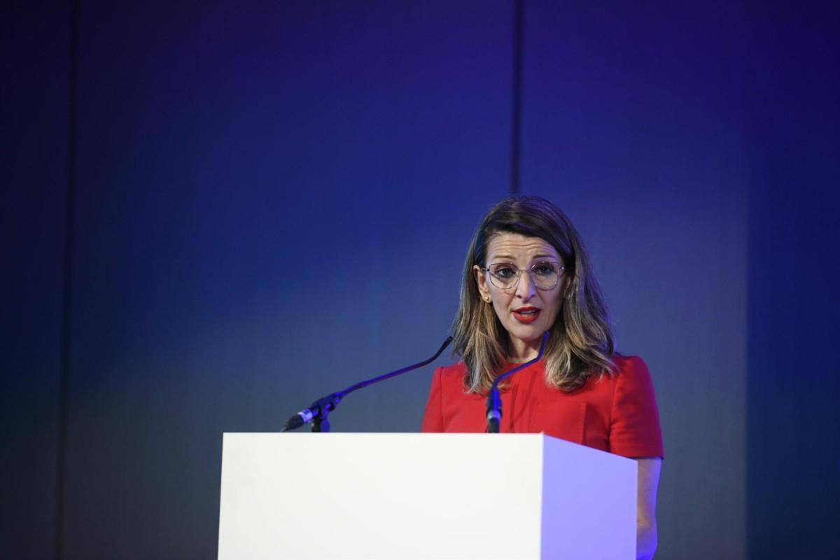 La ministra de Trabajo y Economía Laboral, Yolanda Díaz Foto Óscar Cañas – Europa Press