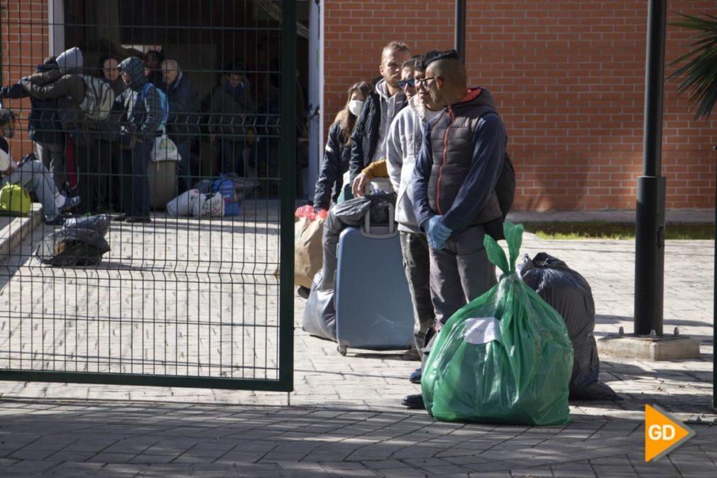 Traslado gente sin hogar Paquillo Fernandez Palacio Deportes - Dani B