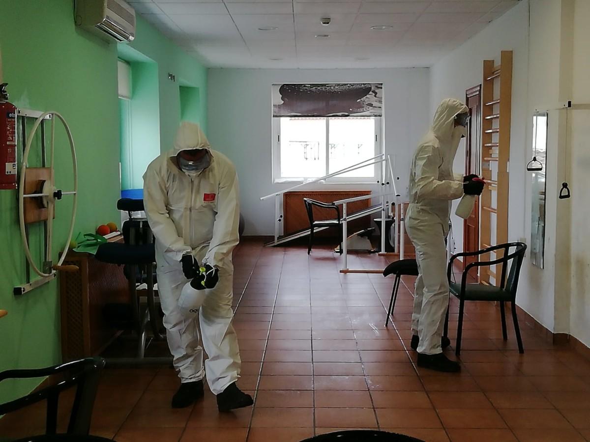 UME tareas desinfeccion residencia