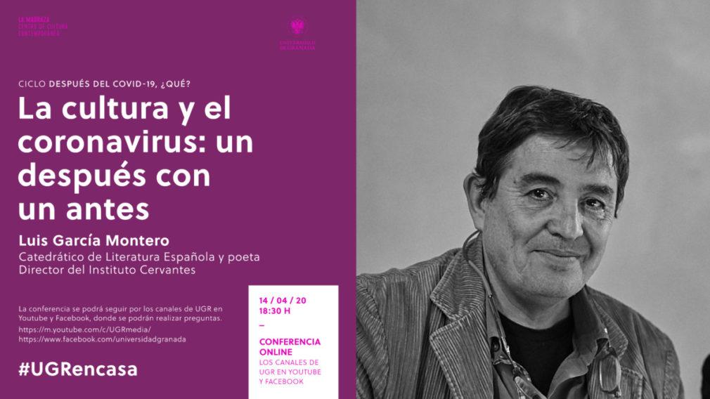 Cartel charla Luis García Montero