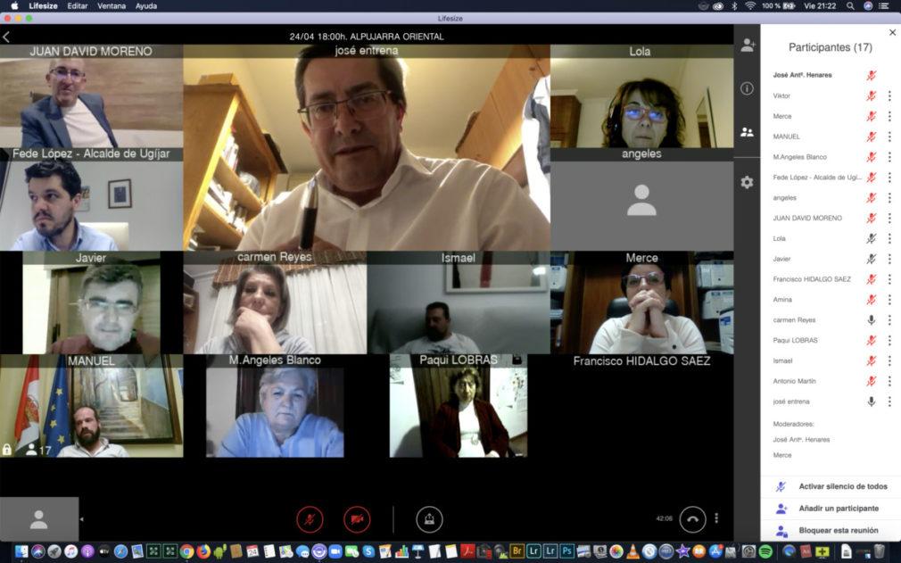 reunion Diputacion ayuntamientos Alpujarra