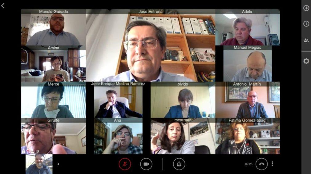 Captura videoconferencia Diputación