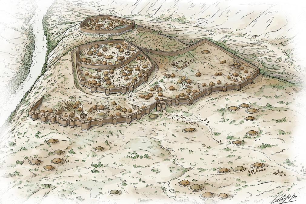 Ilustración del poblado de Los Millares, la primera ciudad de la Península Ibérica- Foto Iñaki Dieguez Uribeondo