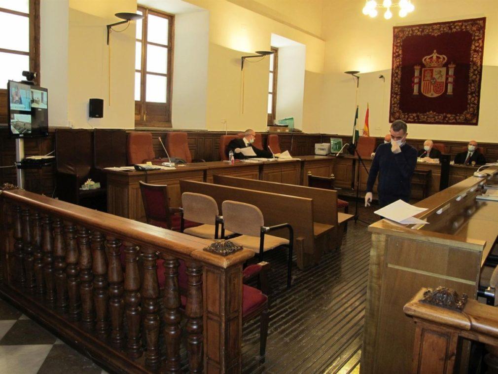 Primer juicio por multivideoconferencia en la Audiencia de Granada