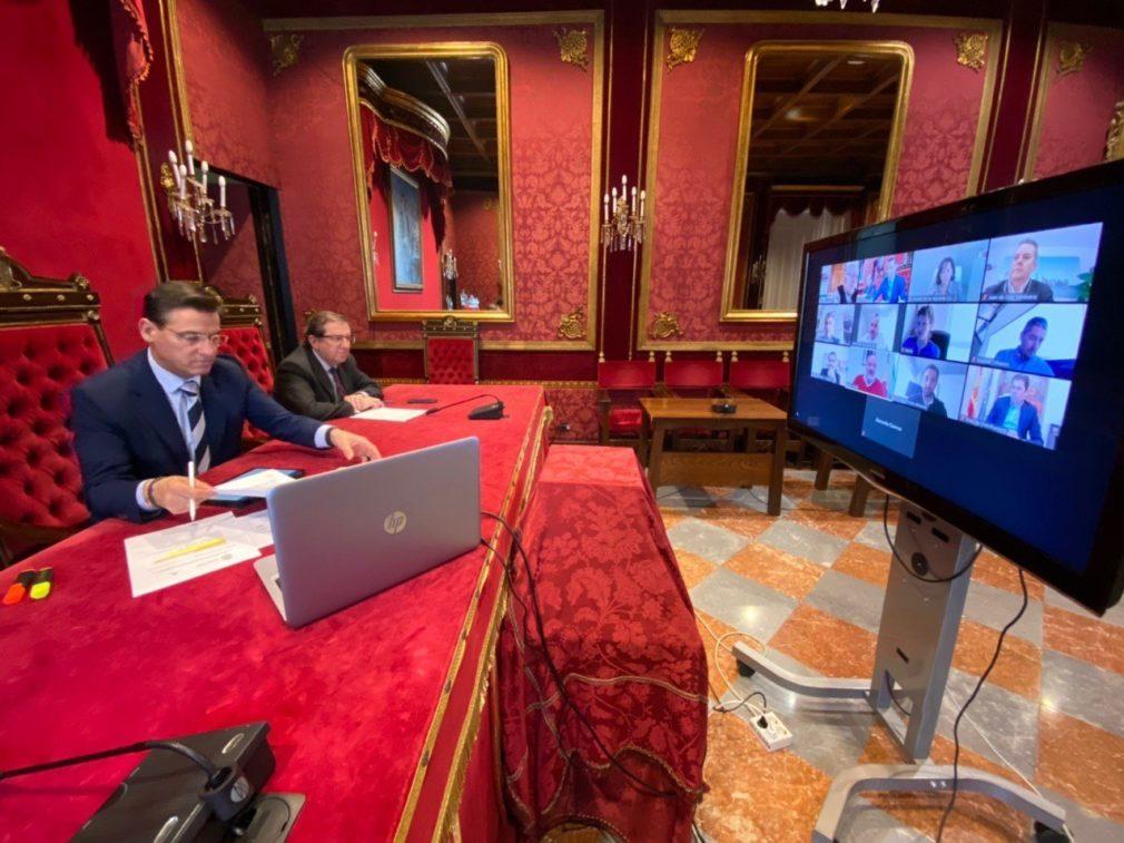 Reunión de Junta y Ayuntamiento para organizar la desescalada en Granada