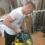 El boxeador John Carter usa el compresor para preparar el título de los superpluma en casa