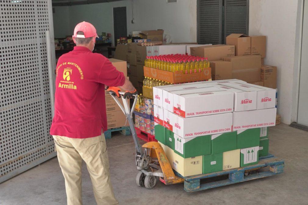 donación Armilla alimentos Parque Comercial Nevada Shopping