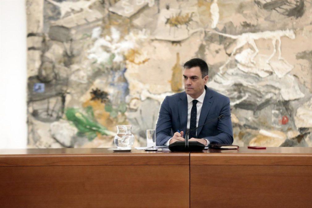El presidente del Gobierno, Pedro Sánchez, preside la reunión del Comité Técnico de Gestión del Covid-19, en el Palacio de la Moncloa