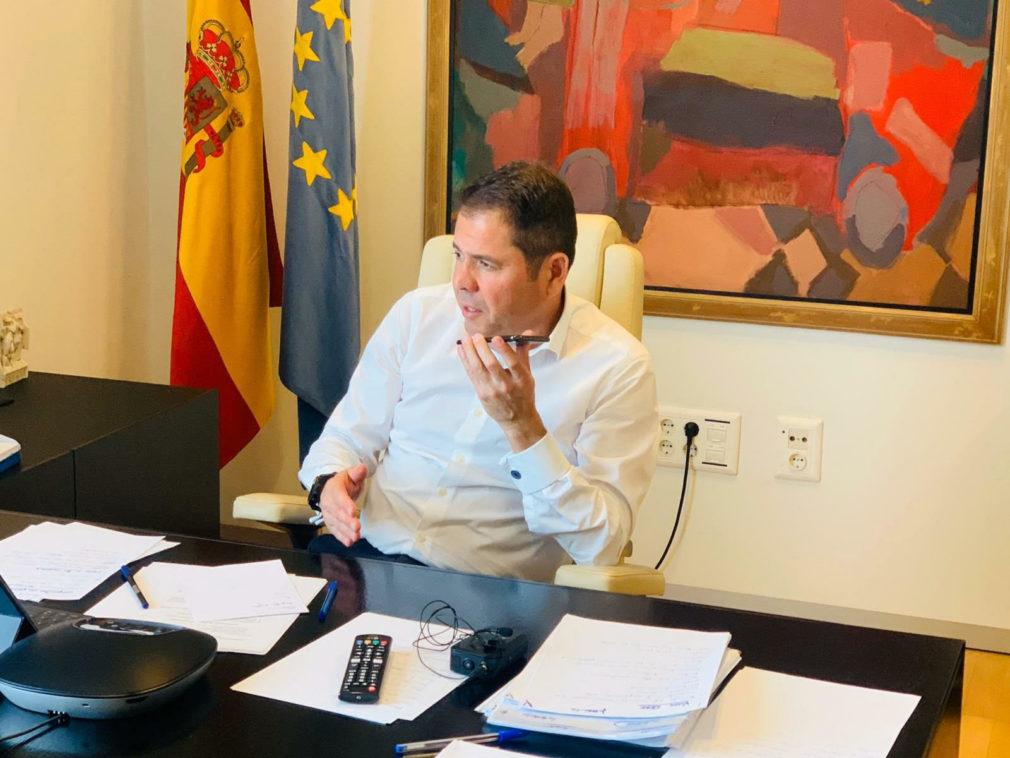 Gerardo Cuerva en su despacho de Camara Granada