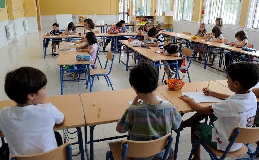 clase niños colegio