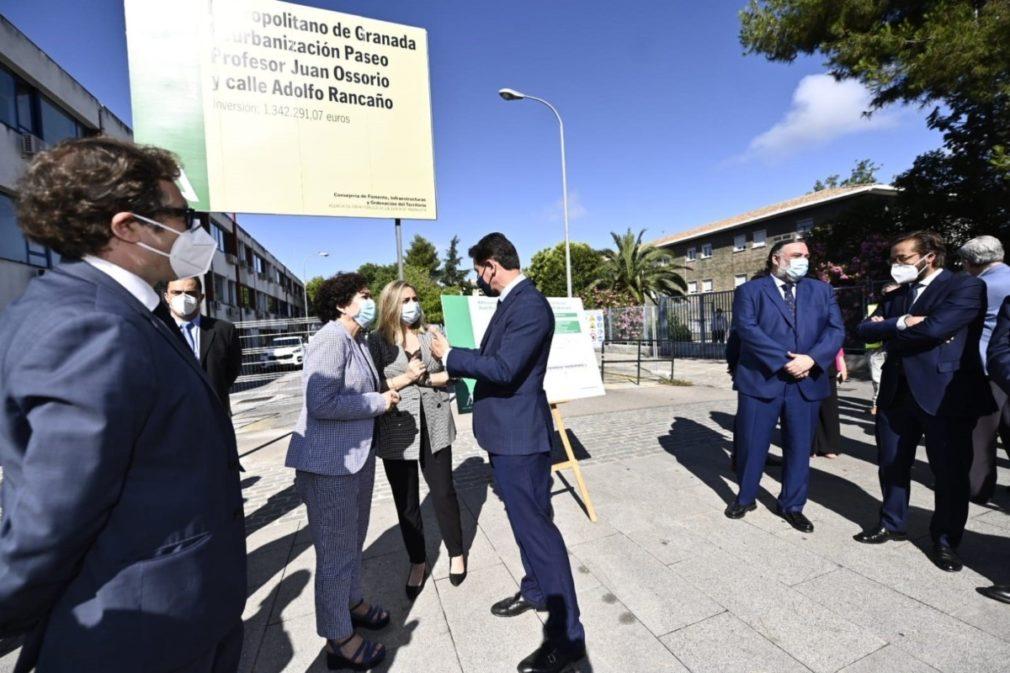 Comienzo de la remodelación de los Paseíllos Universitarios de Granada - JUNTA