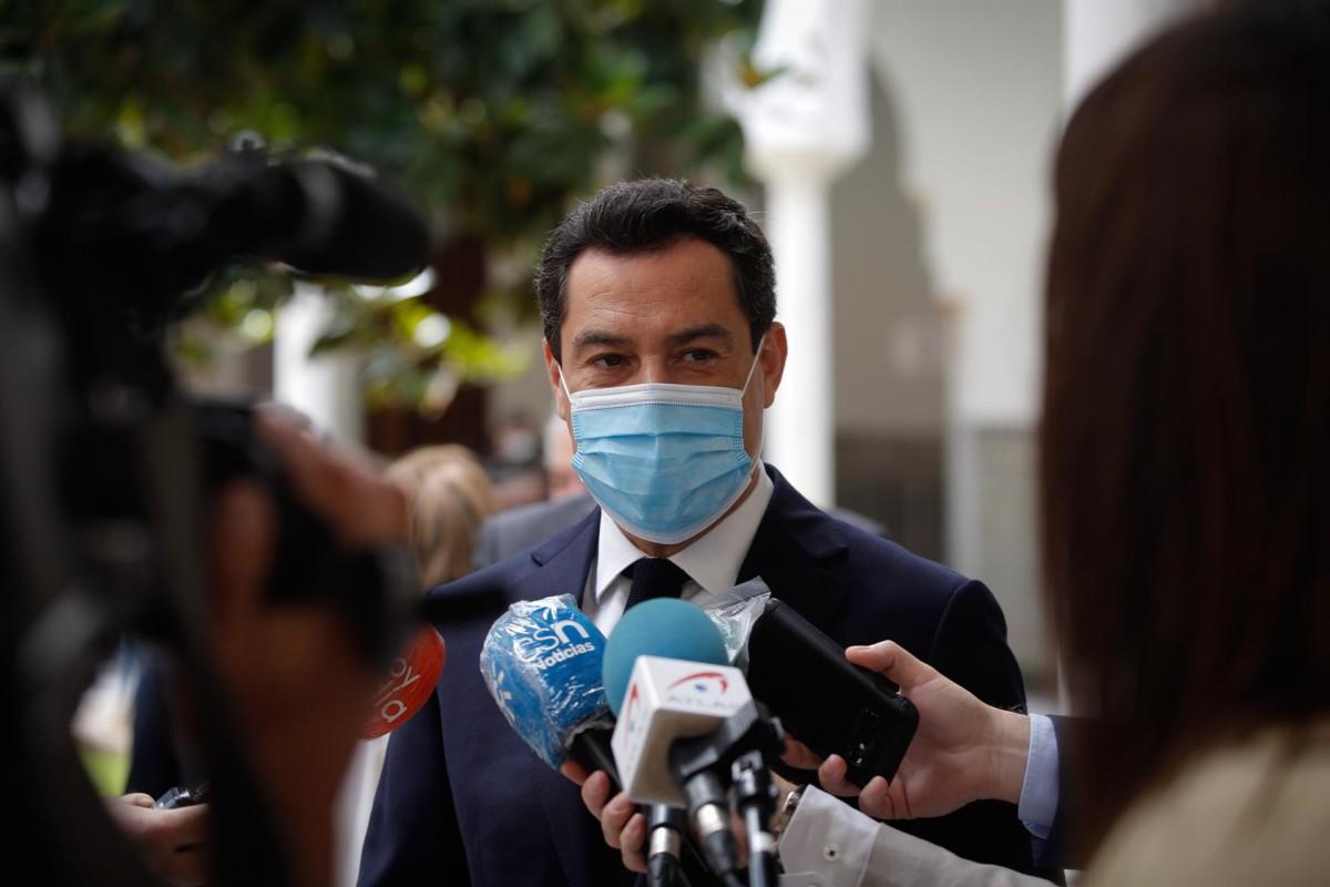 El presidente de la Junta de Andalucía, Juanma Moreno – MJ López Europa Press