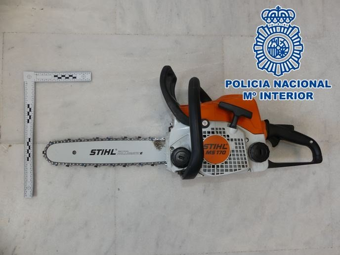 Herraminta sustraída en un robo en Motril - POLICÍA NACIONAL