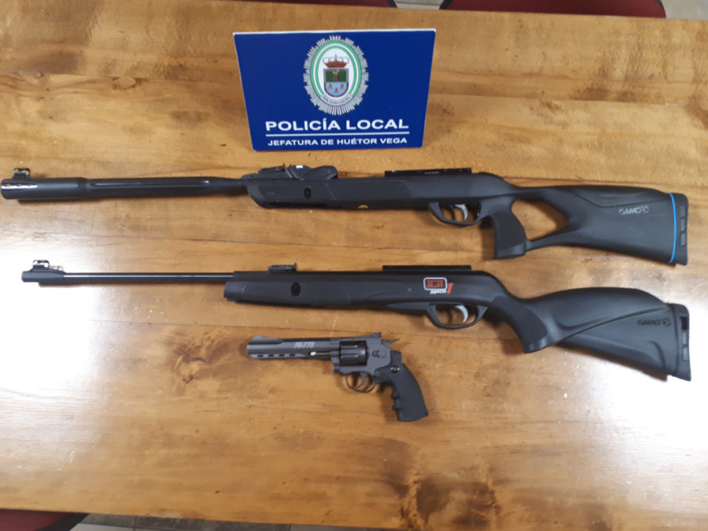 Intervención de armas en la vía pública - Policía Local