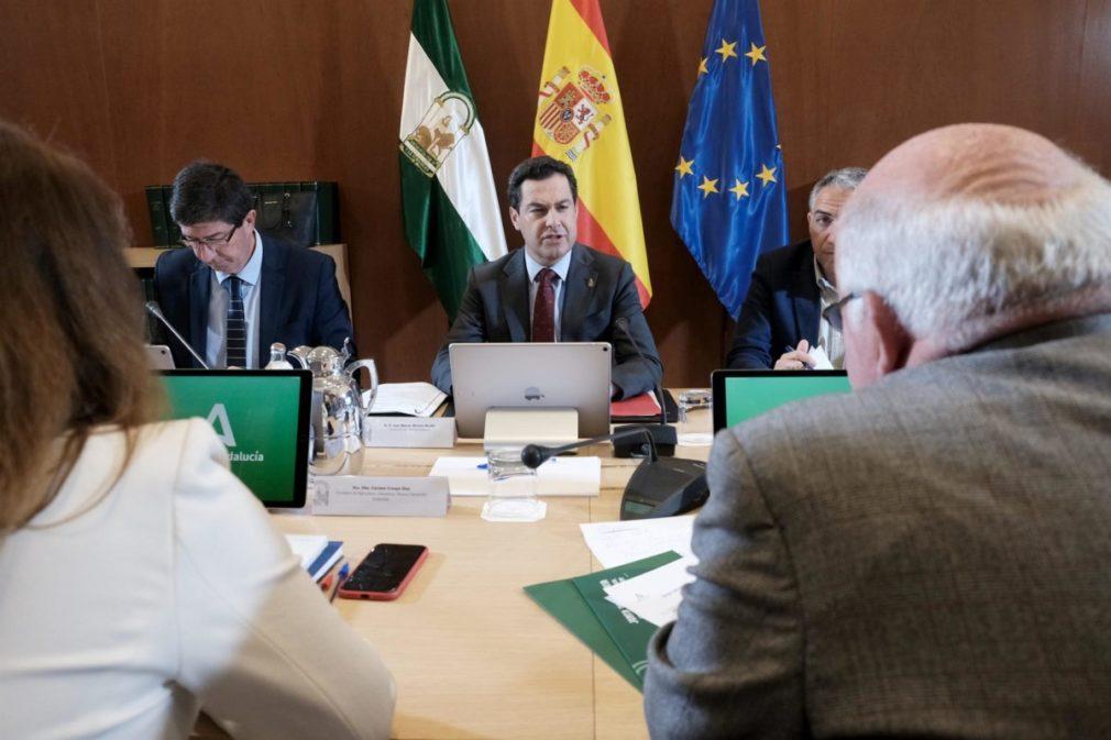 Juanma Moreno, Juan Marín, Jesús Aguirre reunión del Comité Ejecutivo evolución del coronavirus - Carlos Má