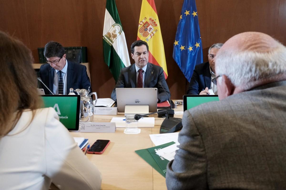 Juanma Moreno, Juan Marín, Jesús Aguirre reunión del Comité Ejecutivo evolución del coronavirus – Carlos Má