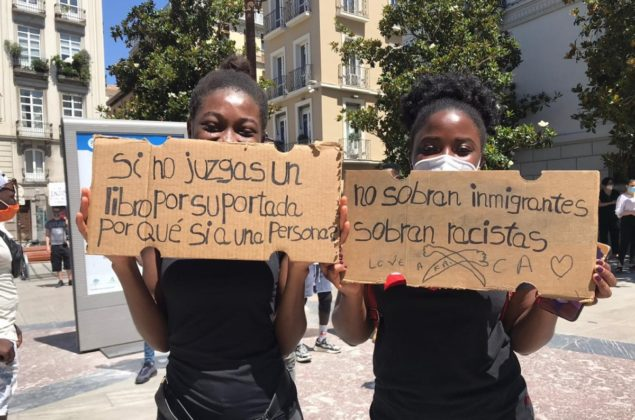 Protesta de este domingo en Granada contra el racismo institucional