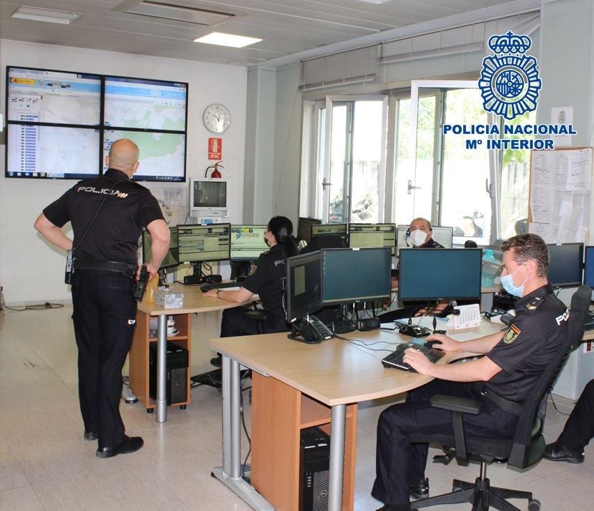 Sala del Cimacc 091 de Granada - POLICÍA NACIONAL