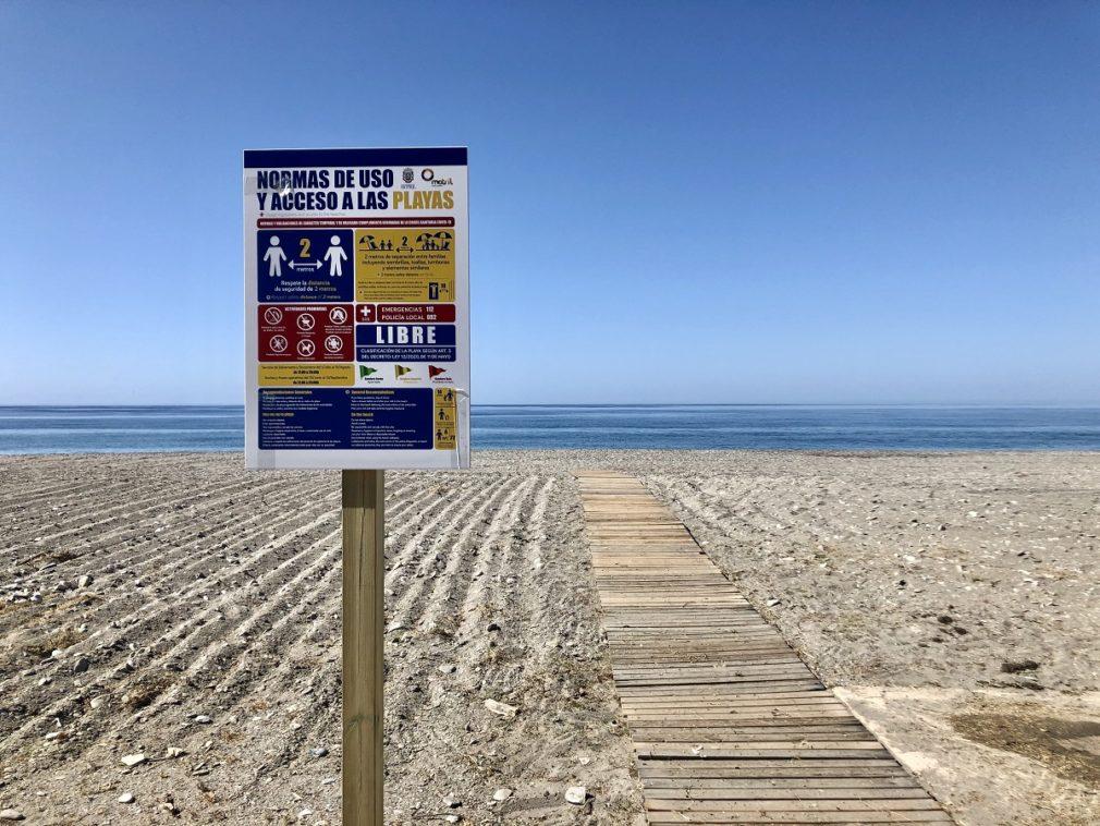 cartel uso playas motril