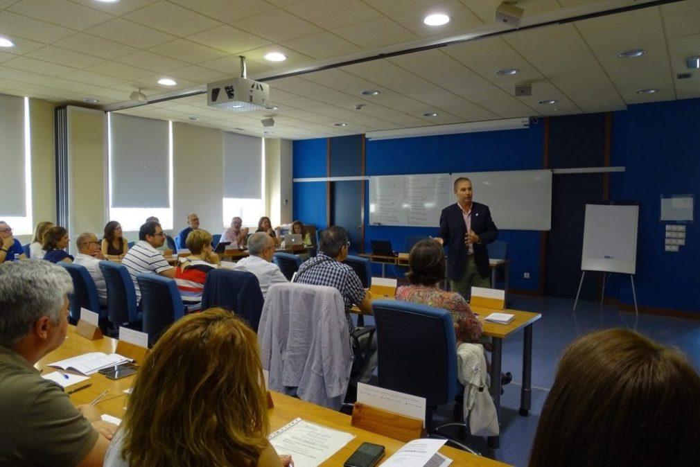 Una sesión del Programa de Desarrollo de Directivos de Salud, en la EASP
