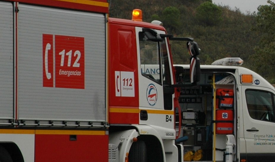 vehiculo de bomberos 112
