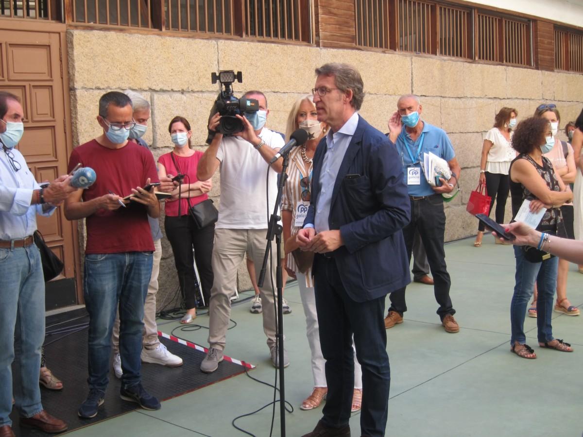 """12J Gallegas.- Feijóo destaca la """"normalidad"""" de la jornada en A Mariña, donde se detectaron cuatro positivos más"""