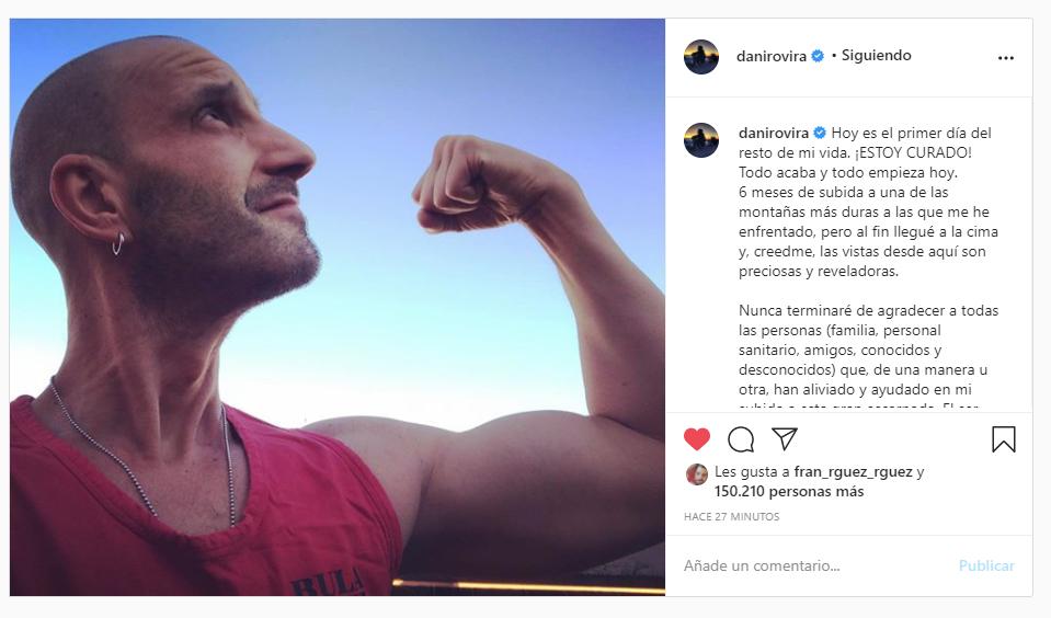 Dani Rovira mensaje cáncer