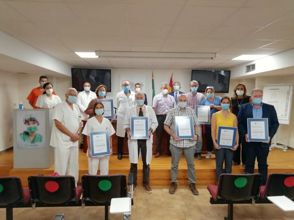 Certificación de calidad en siete unidades del Área de Gestión Sanitaria Sur de Granada