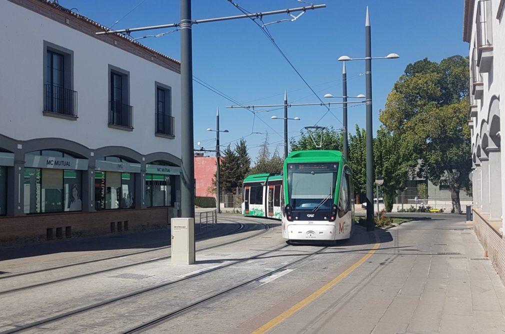 Metro Granada curva Fernando de los Ríos