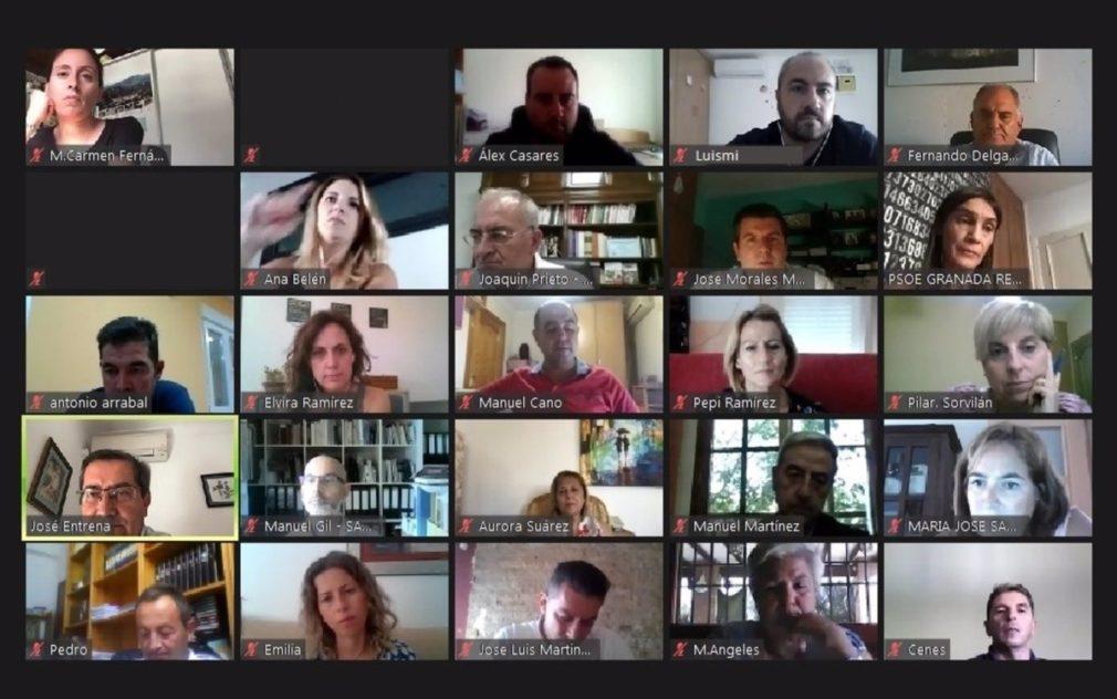 Reunión telemática de alcaldes del PSOE