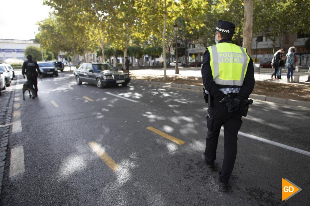 Controles de la policía en el cierre perimetral de Granada por el nuevo estado de alarma