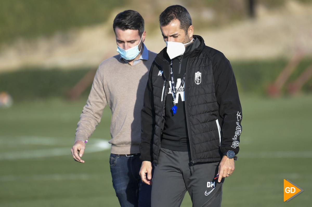 Entrenamiento del Granada CF previo al partido contra el Paok de Salonica de la UEFA Europa League