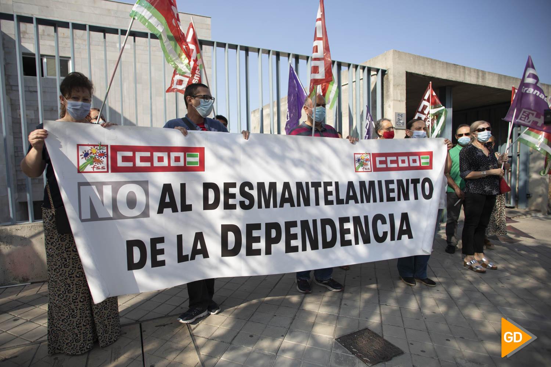 Protesta de comisiones obreras contra el desmantelamiento de la dependencia