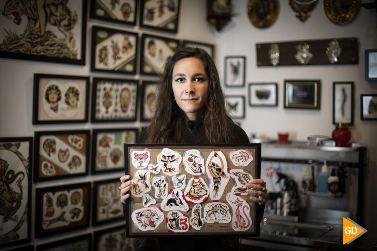 Reportaje en el estudio CocaineTattoo de Granada