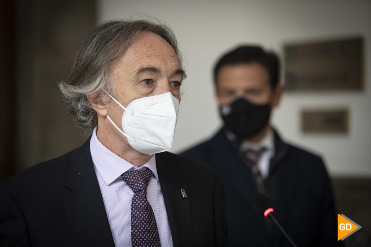 Rueda de prensa de Indalecio Sanchez Montesinos y Luis Salvador sobre los datos del coronavirus en Granada
