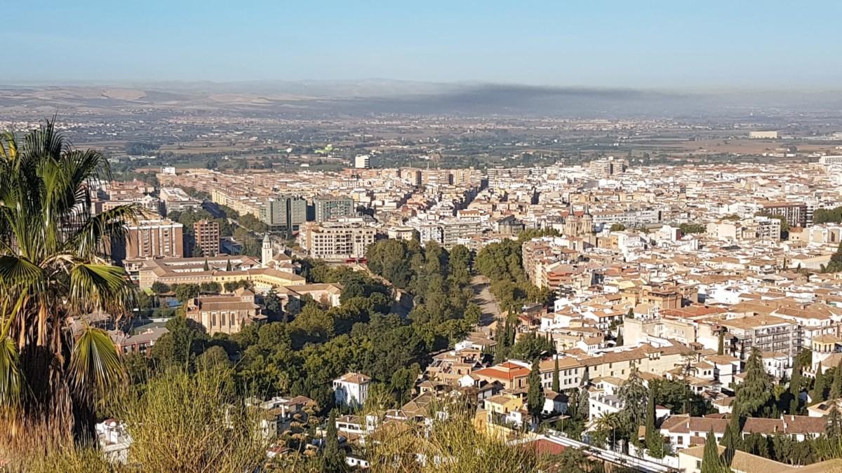 Boina negra contaminación gases contaminantes CO2 Granada calidad del aire Foto Dani Bayona