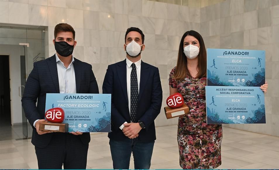 Factory Ecologic y ELCA, galardonadas en los premios AJE Granada