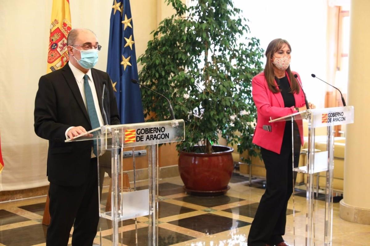 AV.- El Gobierno anuncia el confinamiento perimetral de Zaragoza, Huesca y Teruel este jueves