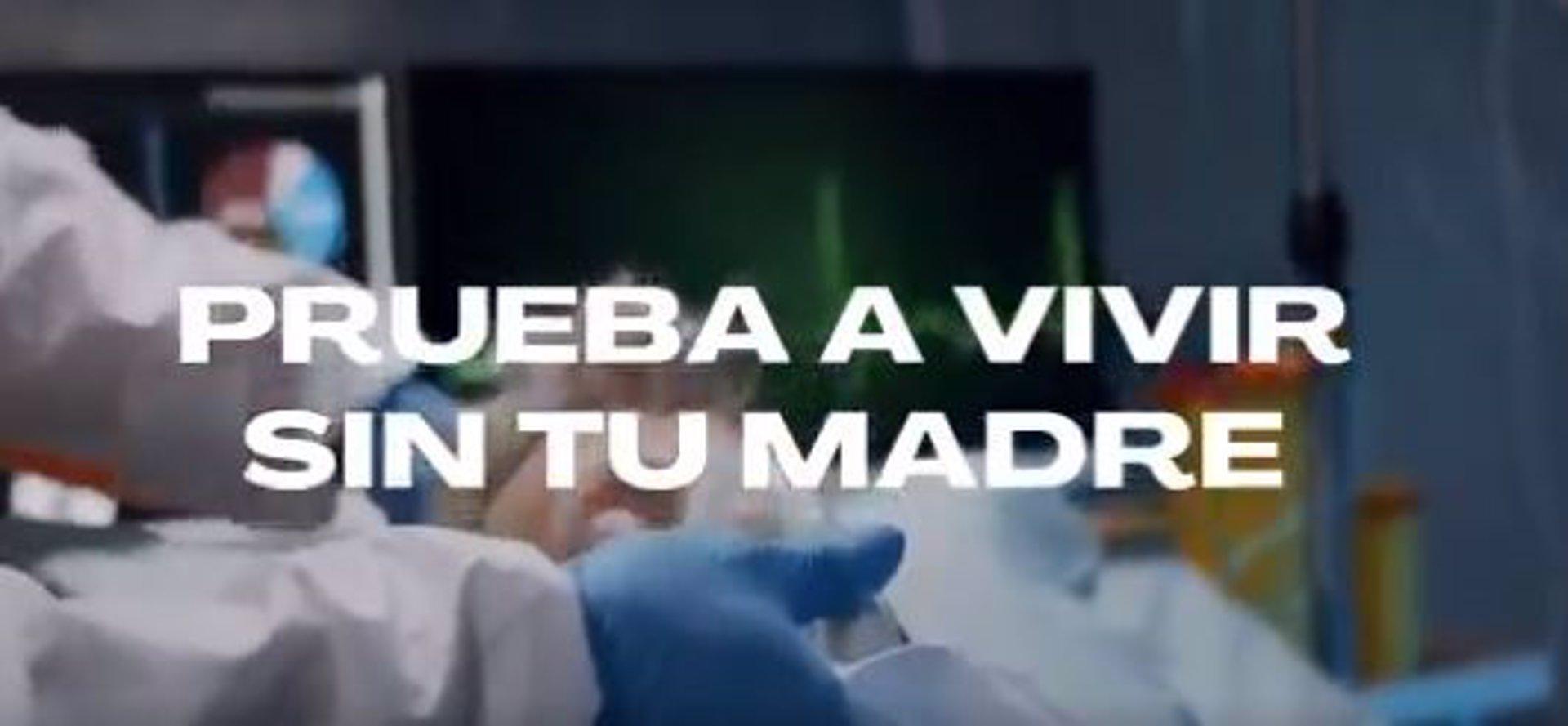 """Cvirus.- Campaña de concienciación de la Junta: """"Si no puedes vivir sin salir de fiesta, prueba a vivir sin tu madre"""""""