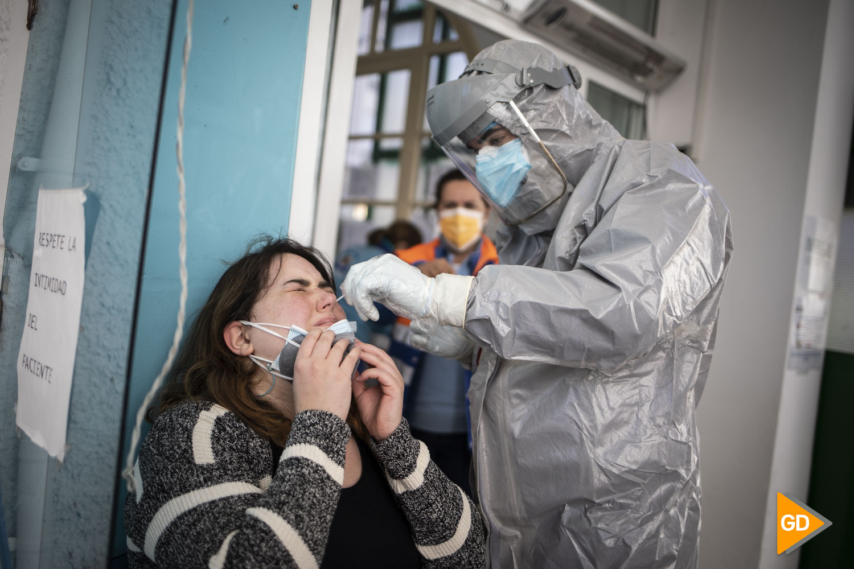 Pruebas PCR de Covid 19 en el Centro de salud Doctor Oloriz en Granada